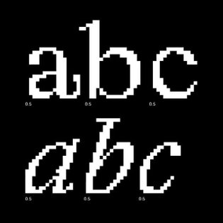 Laica by @alessio_dellena roman+italic (out s-o-o-n on @abcdinamo) rasterized at different resolutions with a smooth progres...