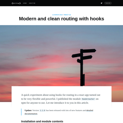 Modern and clean routing with hooks