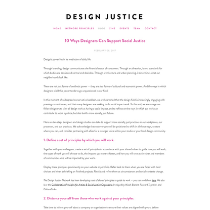 10 Ways Designers Can Support Social Justice