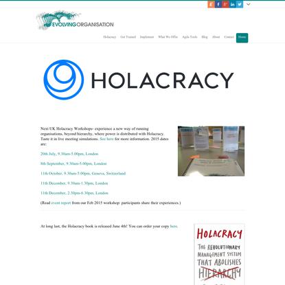 home : : Evolving Organisation