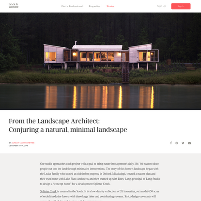 From the Landscape Architect: Conjuring a natural, minimal landscape