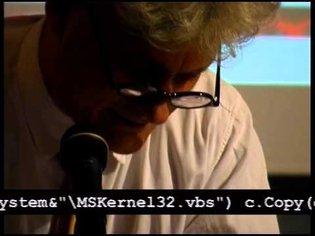 """[epidemiC] """"loveLetter.vbs reading"""" Bologna, D-I-N-A Festival, May 24, 2001"""