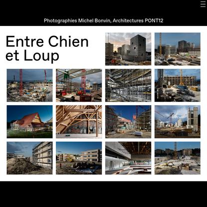 Entre Chien et Loup, Photographies Michel Bonvin et Architectures Pont 12