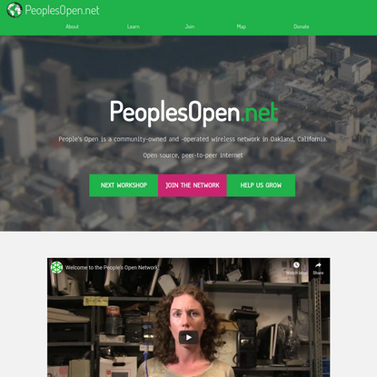 Welcome to the People's Open Network