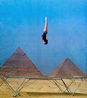 Going vertical. Glenn Sundby, Cairo, 1977
