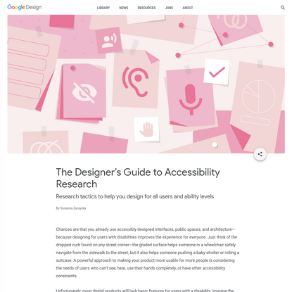 The Designer's Guide to Accessibility Research - Library - Google Design