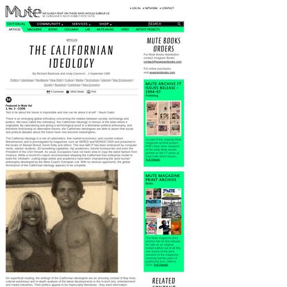 The Californian Ideology