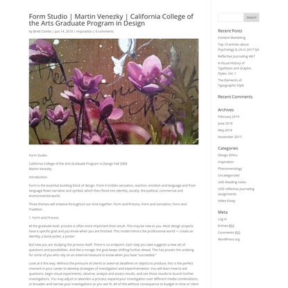 Form Studio   Martin Venezky   California College of the Arts Graduate Program in Design