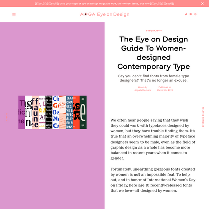 The Eye on Design Guide To Women-designed Contemporary Type