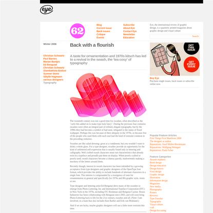 Eye Magazine | Feature | Back with a flourish