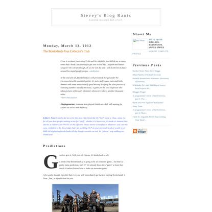 Stevey's Blog Rants