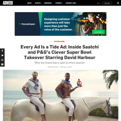 Every Ad Is a Tide Ad: Inside Saatchi and P&G's Clever Super Bowl Takeover Starring David Harbour