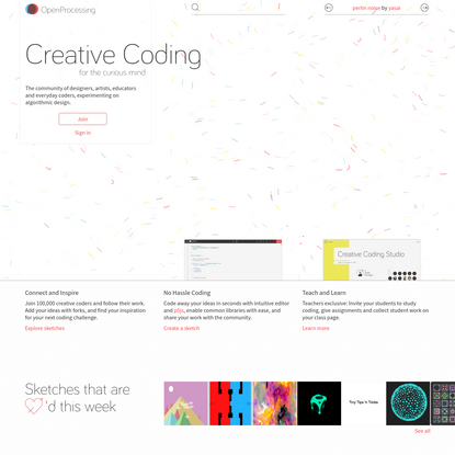 OpenProcessing - Creative Coding for the Curious Mind
