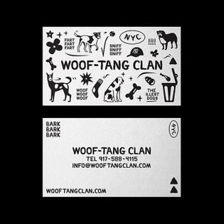 Business card for @wooftangclannnyc by @hheeej