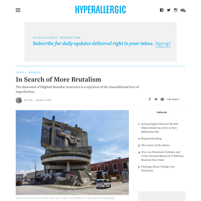 In Search of More Brutalism