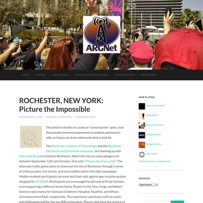 ROCHESTER, NEW YORK: Picture the Impossible