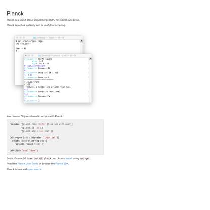 Planck ClojureScript REPL