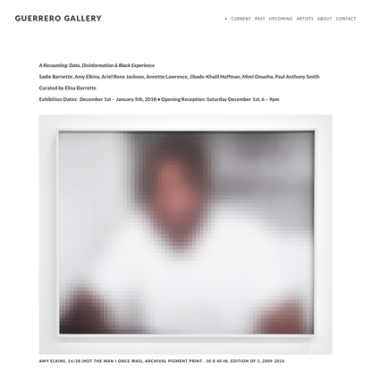 A Recounting: Data, Disinformation & Black Experience - GUERRERO GALLERY