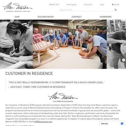 Customer In Residence - Thos. Moser