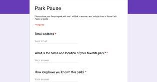 Park Pause: Favorite Park Survey