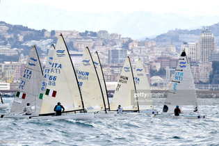 finn-sailboats-compete-during-the-italian-olympic-sailing-classes-on-picture-id937334892