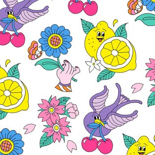 """Design of tattoo sticker🍋 The stickers are novelty of a one-day event""""atmos pink party"""". 4/6(土)に開催されたatmos pink party限定の「ell..."""