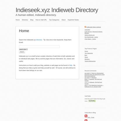 Indieseek.xyz Indieweb Directory
