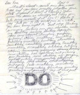 LeWitt's letter to Hesse