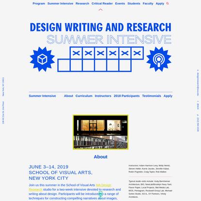 SVA MA Design Research