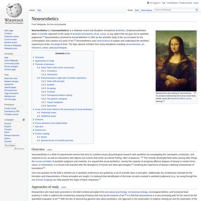 Neuroesthetics - Wikipedia