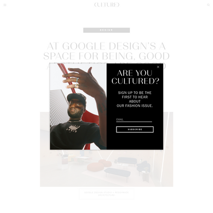 At Google Design's A Space For Being, Good Aesthetics Are Good for the Brain   Cultured Magazine