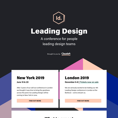 Homepage   Leading Design Conference 2019