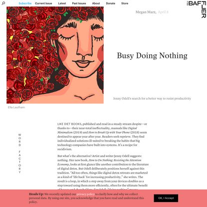 Busy Doing Nothing | Megan Marz