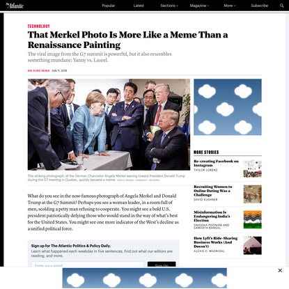 That Merkel Photo Is More Like a Meme Than a Renaissance Painting