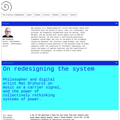 On redesigning the system