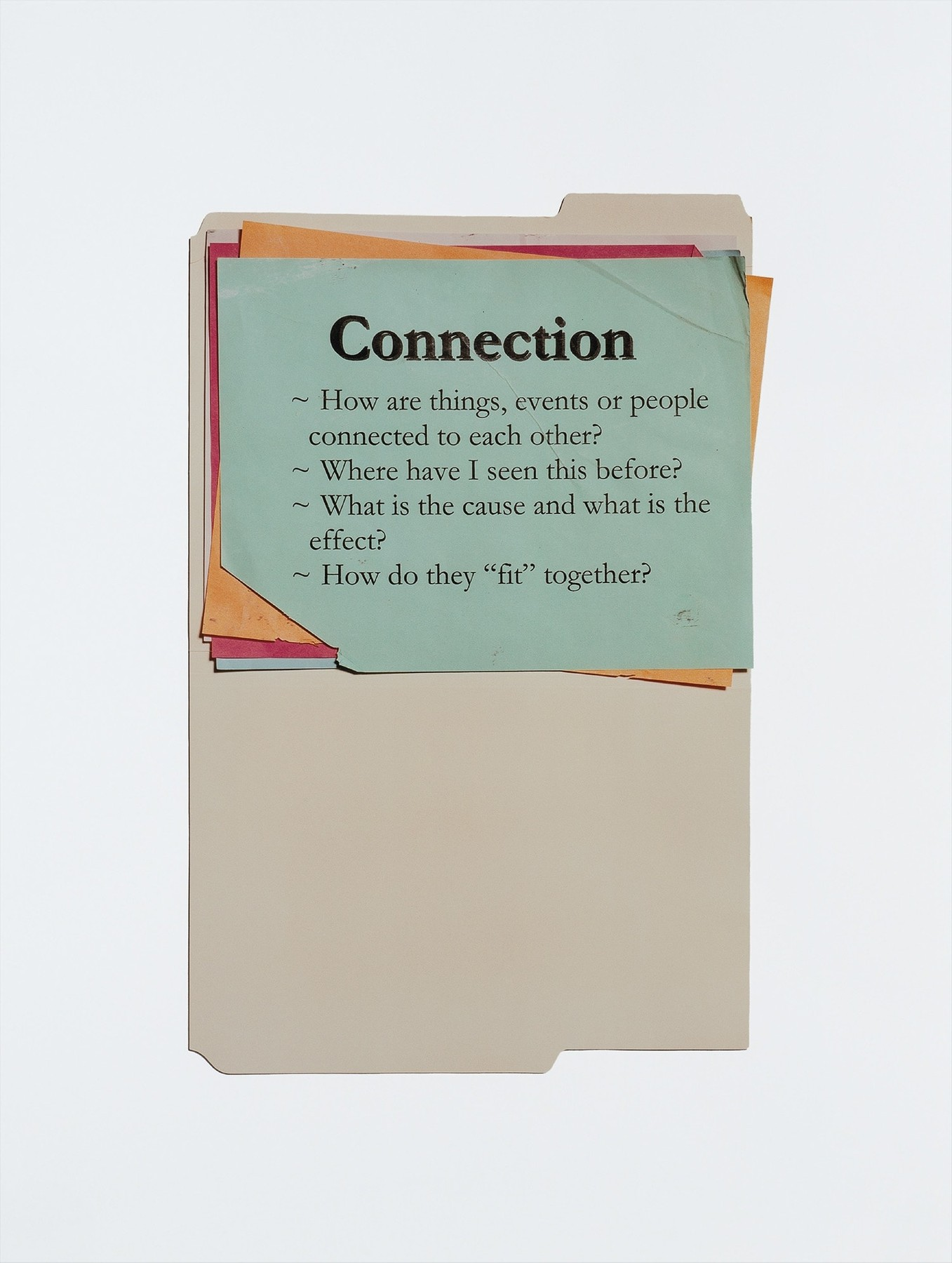Anne Collier, Questions (Connections), 2011