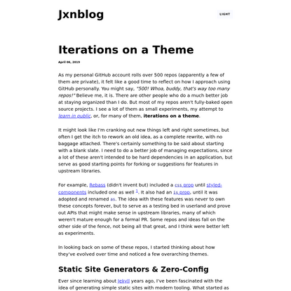 Iterations on a Theme