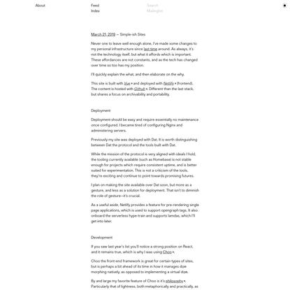 Simple-ish Sites / Jon-Kyle