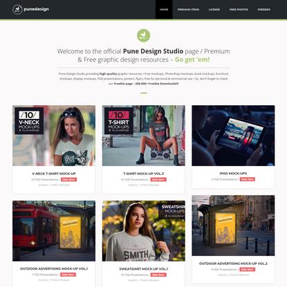 PuneDesign Studio | Free Mockups, Graphic Design Freebies