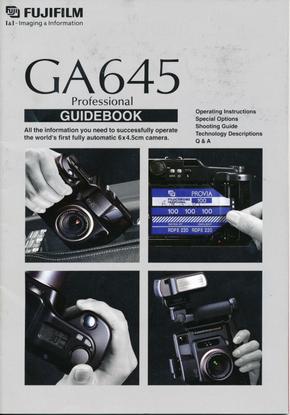 Fuji GA645 Manual