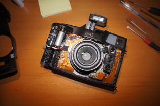 Fuji GA645(i) body without front cover