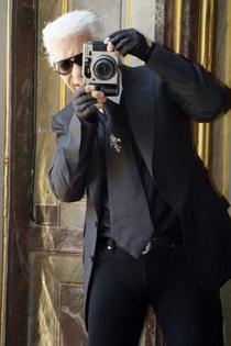 Karl Lagerfeld with Fuji GA645Zi (1)
