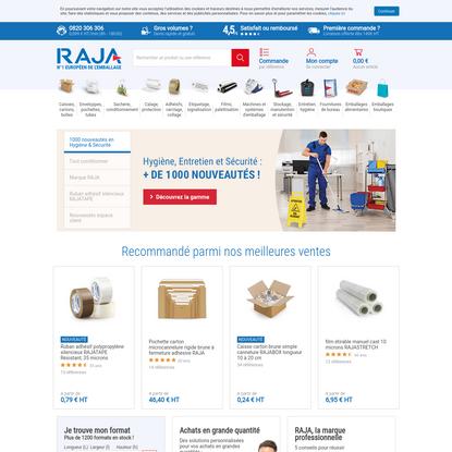 Emballage Raja: carton, boîte, caisse, enveloppe, adhésif, fourniture
