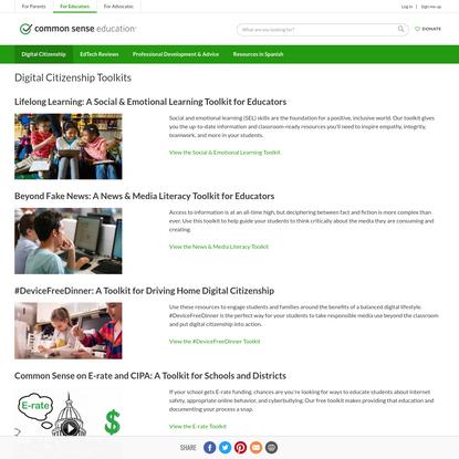 Digital Citizenship Toolkits   Common Sense Education
