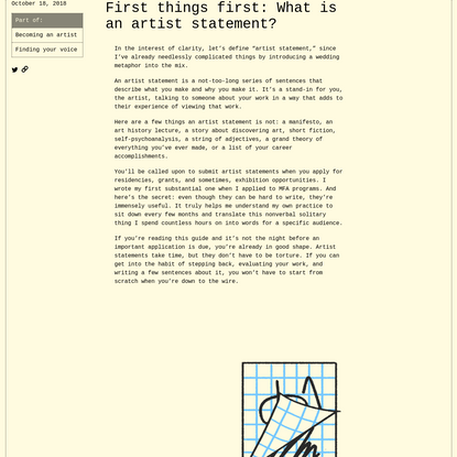 How to write an artist statement