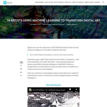 16 Artists Using Machine Learning to Transform Digital Art