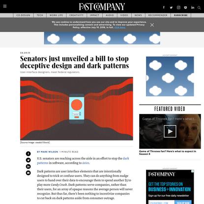Senators just unveiled a bill to stop deceptive design and dark patterns
