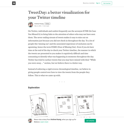 TweetDay: a better visualization for your Twitter timeline
