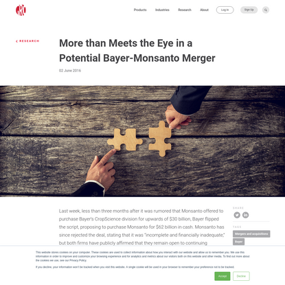More than Meets the Eye in a Potential Bayer-Monsanto Merger | Gro Intelligence