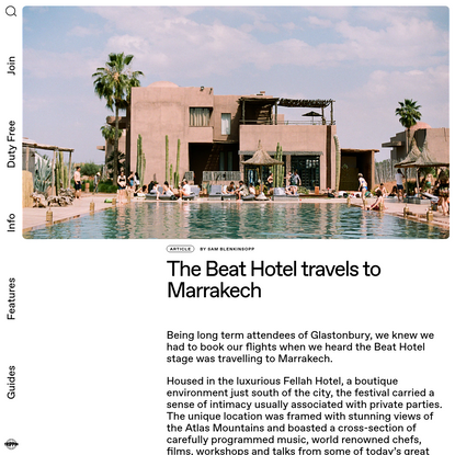 The Beat Hotel travels to Marrakech   Trippin